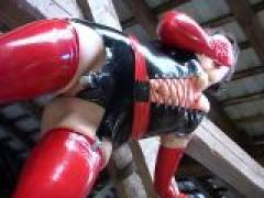 Sexual lesbian slave in latex clothes Meutzner Schmidt having wild sex with a horny mistress