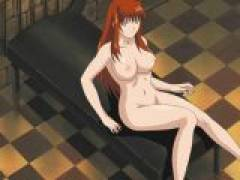 Busty hentai mistress spreads her long legs and gets her pussy licked and fucked
